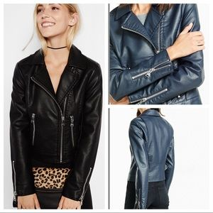Express Jackets & Coats - Express Black (Minus the Leather) Jacket
